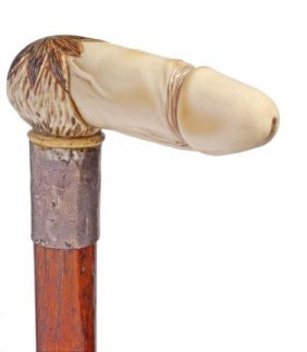 Erotic Ivory Penis Cane- Late 19th Century- A Finel