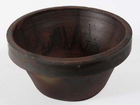 Mixing Bowl-earthenware, Small Chip On Lower Lip, 1