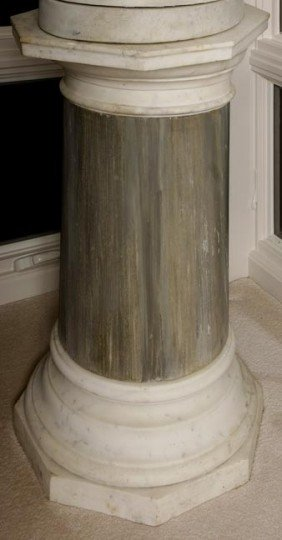 21. Massive Marble Pedestal-Early 20th Century-A Ma