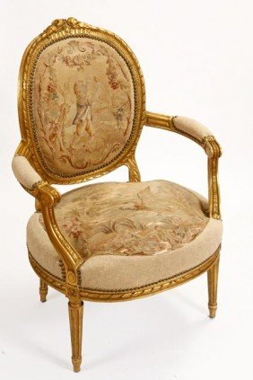 40. French Aubusson Chair-Circa 1880-A Wonderful Au