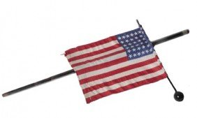 3. American Flag Parade Cane-Early 20th Century-A 48