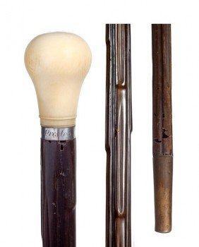 73. Rhino Horn Shaft Cane-Mid 19th Century-A Rarely