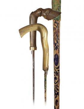 5. Two Horn Handles With Daggers-Ca. 1880-The First