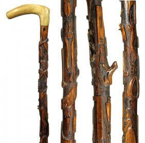 178. American Folk Art Cane- Dated 1877- We Have Had