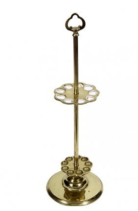 211. Brass Cane Stand- 20th Century- A Solid Cast Cane