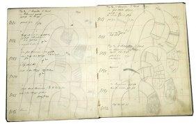 217. Cane Designers Original Drawings Binder Book -!9th
