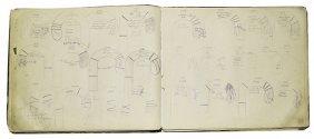 220. Cane Designers Original Drawings Binder Book