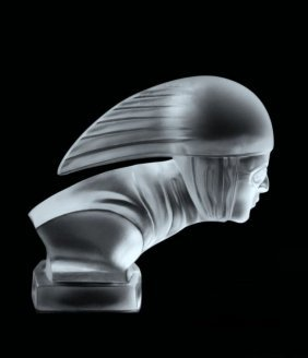 Glass Car Mascot / Art Deco Bohemia / Model Ca.1930