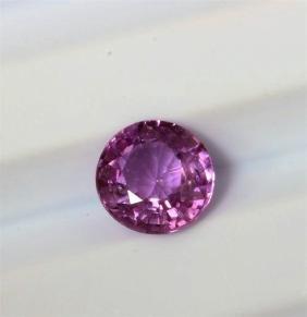 1.11ct Round Shape Pink Ceylon Sapphire