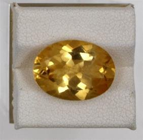 8.06ct Natural Citrine Oval Cut