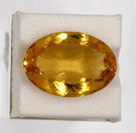 16.42ct Natural Citrine Oval Cut