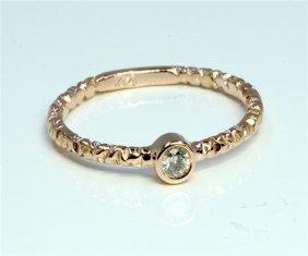Diamond 0.13 Ct Ring 14kt Rose Gold 1.77 Gr