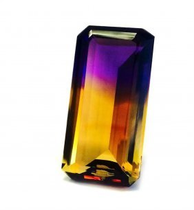 73.30 Ct & Up Ametrine Radiant Bi Color Quartz