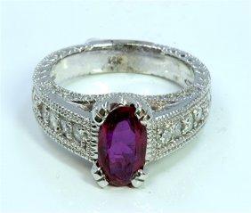 No Heat Gia Ruby 1.85ct Diamond 0.66ct