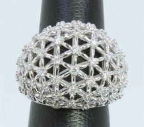 14k White Gold Ring 11.10gram Diamond 0.91ct