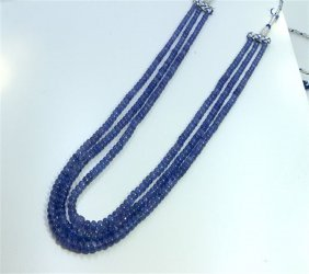 Natural Tanzanite Beads Necklace 461.00ct And Up