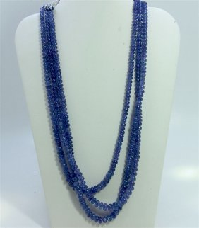 Natural Tanzanite Beads Necklace 501.36 And Up
