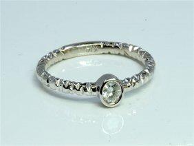 Diamond 0.09 Ct Ring 14kt White Gold 1.82 Gr