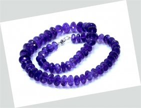345 Ct & Up Amethyst Faceted Vintage Smooth Rondelle