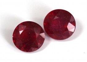 6.44 Ct & Up Ruby Loose Stone Pair & Matching