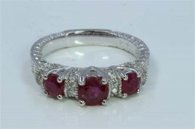 Ruby 1.60ct Diamond 0.32ct