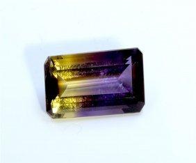 8.45 Ct & Up Ametrine Radiant Bi Color Quartz