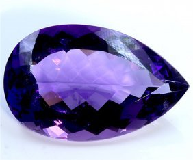 105 Ct & Up Amethyst Pear Shaped Ctw