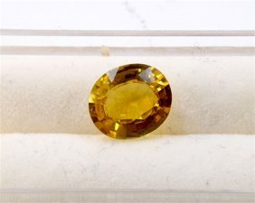 1.76 Ct Natural Yellow Tourmaline