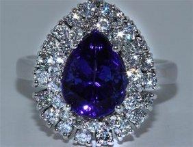 Tanzanite W/ Diamond Ring Tanzanite 3.50ct