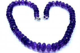 651 Ct & Up Amethyst Faceted Vintage Smooth Rondelle