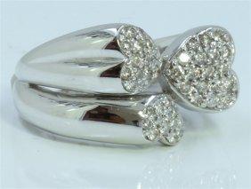 14k White Gold Ring 10.00 Gram Diamond 0.22ct