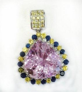 Blue Sapphire 2.64ct / Yellow Sapphire 2.35ct / Kunzite