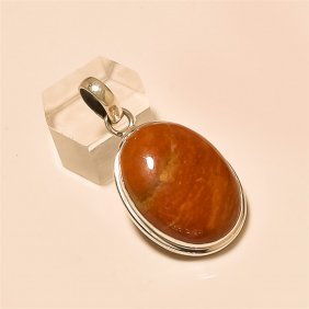 Red Jasper Pendant Solid Sterling Silver