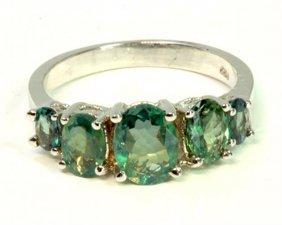Alexandrite 2.04ct / 14k White Gold Ring 3.38 Gram