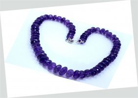 404 Ct & Up Amethyst Faceted Vintage Smooth Rondelle