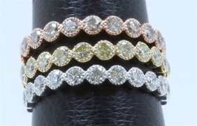 14k Rose Gold, Yellow Gold, White Gold Color Band:4.70