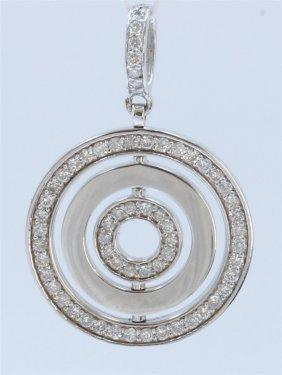 14k White Gold Pendant:8.4g/diamond:1.03ct