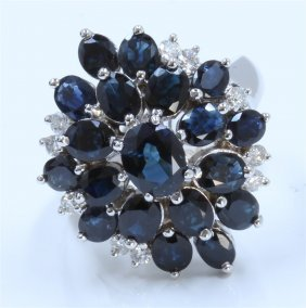 14k White Gold Sapphire Pendant