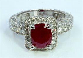 Ruby 2.74ct / Diamond 1.84ct