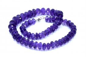 650 Ct & Up Amethystfaceted Vintage Smooth Rondelle