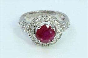 Gia Ruby Round 2.56ct Diamond 0.55ct