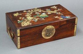 Chinese Inlaid Wood Box