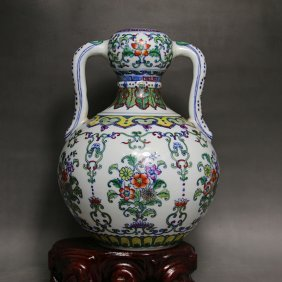 Chinese Doucai Porcelain Ginger Vase