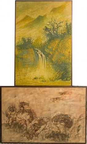 Lot Of Two Chinese Batiks
