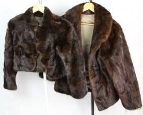 Lot Of Two Mink Fur Jackets