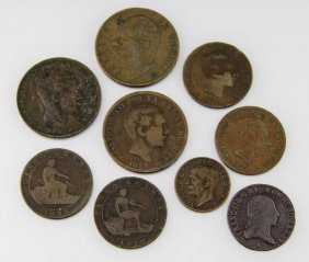 Late 19th Early 20th C Mixed European Centimes
