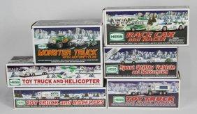 Mixed Lot Of Six Hess Model Trucks