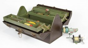 Tackle Box With Reels And Lures