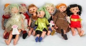 Lot Of Nine 1960's Whimsies Dolls