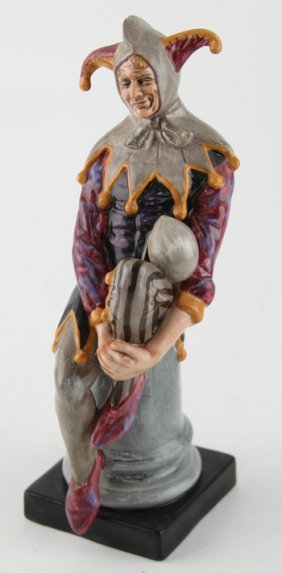 "Royal Doulton ""the Jester"" Porcelain Figurine"
